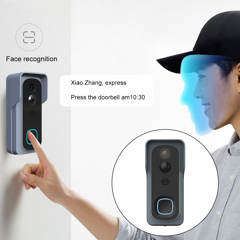 Indoor Chime WiFi Video Doorbell Cloud Storage Motion Detection Night Vision Wireless Security Easy Install Waterproof