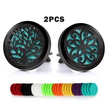 BOFEE 2PCS Perfume Aromatherapy Car Vent Diffuser Clip Outlet Air Fresheners Fragrance Stainless Steel Essential Oil Locket Gift car air conditioning outlet perfume folder oil box outlet essential oil diffuser space shape