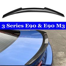 E90 & E90 M3 Carbon Fiber M4 Style Rear Trunk Spoiler 318i 320i 325i 330i For BMW 3 Series E90 Sedan Rear Wing CF стоимость