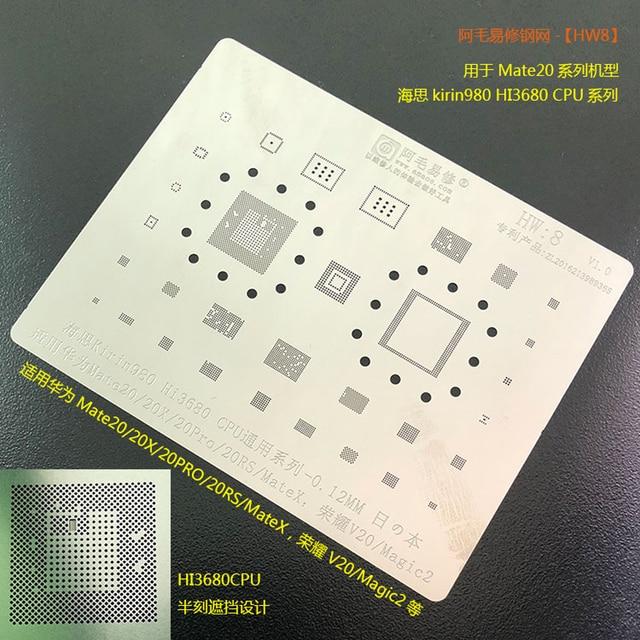 Amaoe BGA reballing stencil For Huawei Mate X 20 20 pro 20RS 20X Honour 20 MAGIC2  Kirin980 Hi3680 CPU Chip Tin Plant Net 1