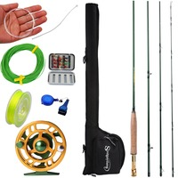 Sougayilang 2.9m Fly Fishing Rod And 5/6 Fly Reel Combo Fishing Pole Fish Line Bag Lure Flies Backing Line Accessories Full Set