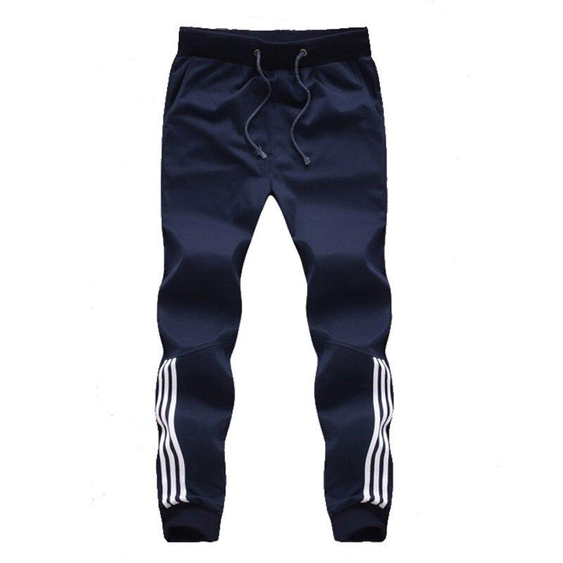 Новый модный спортивный костюм, мужские повседневные штаны, хлопковые спортивные штаны для бега, штаны в полоску, одежда для тренажерных за...