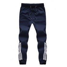 Nueva moda pantalones de chándal para hombre, pantalones de chándal de algodón, pantalones de chándal para hombre, pantalones de rayas, ropa de gimnasio