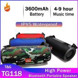 TG118 Bluetooth Speaker High Power Draagbare Waterdichte Kolom Voor Computer TG125 Luidsprekers Subwoofer Boom Box Muziek-Center-Radio