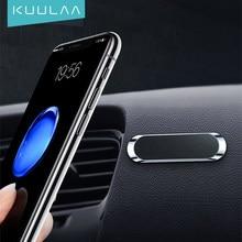 KUULAA Mini pasek kształt magnetyczny uchwyt samochodowy telefon stojak na iPhone Samsung Xiaomi ścienny metalowy magnes GPS deska rozdzielcza samochodu