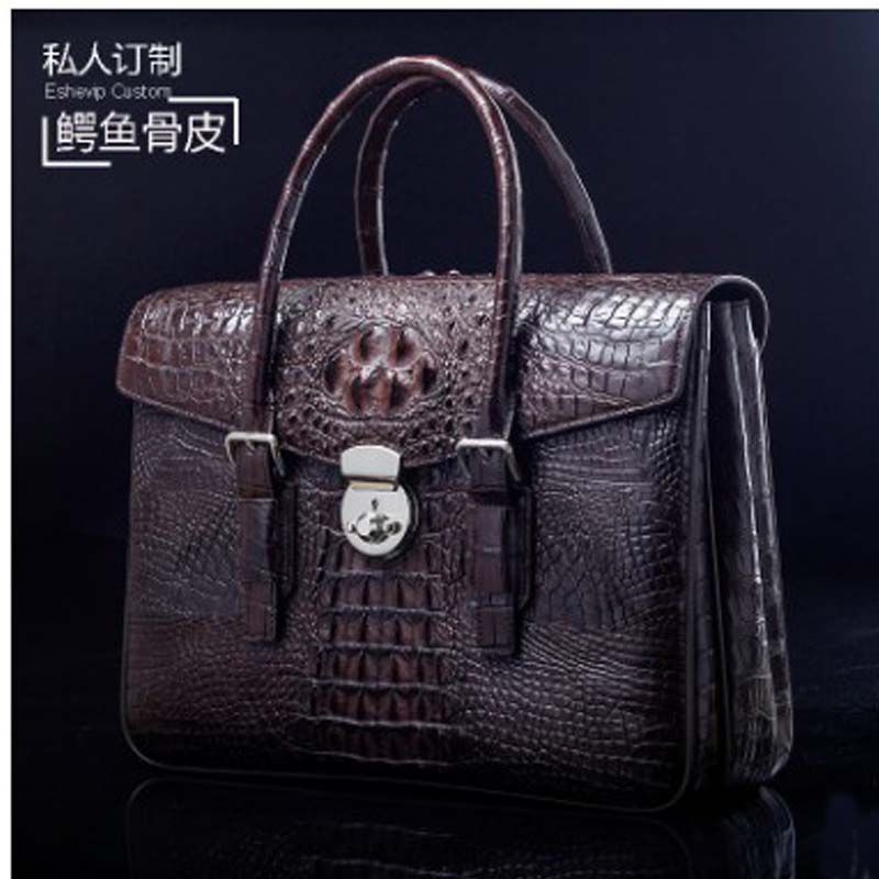 Ourui New  True  Crocodile  Male  A Briefcase  Business  Classic  Style Men Handbag