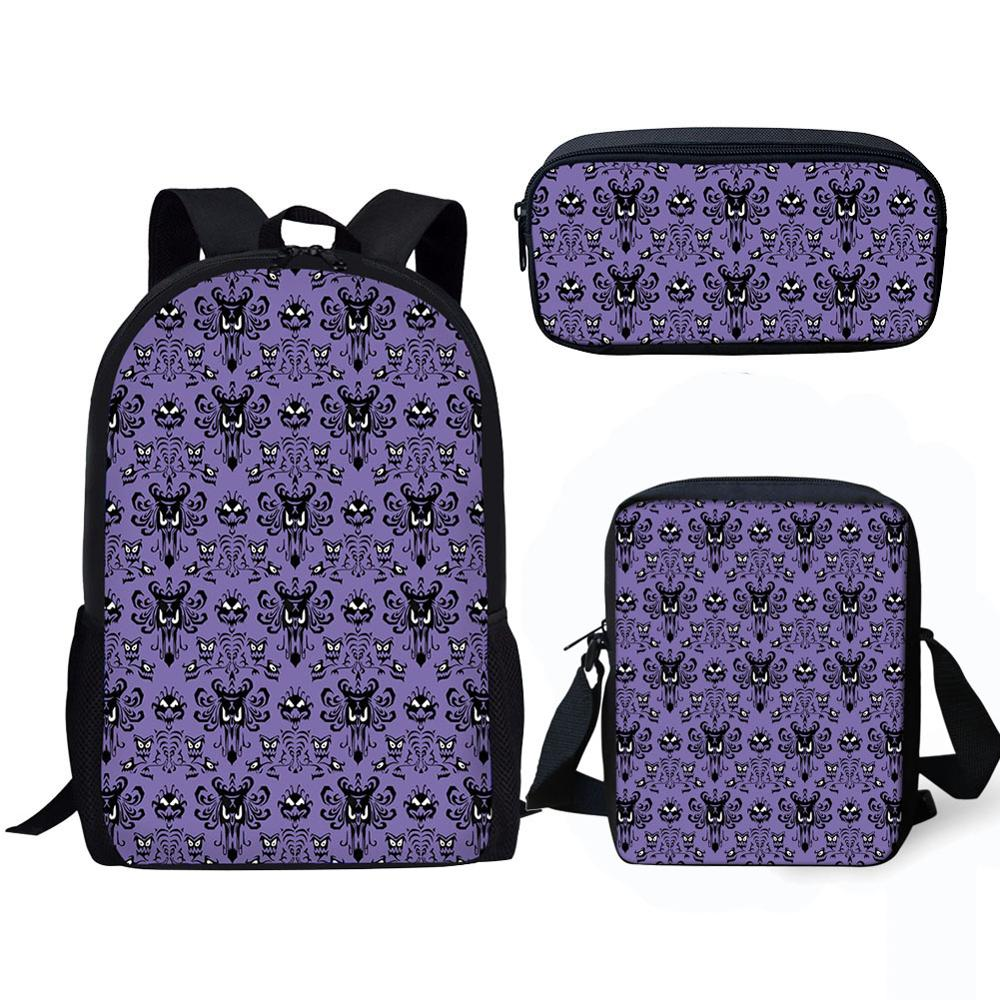 Haunted Mansion 3D Print Schoolbag Sets For Boys Kids Backpack Multi Function Kids Satchel Children Book Bag Back To School Bags