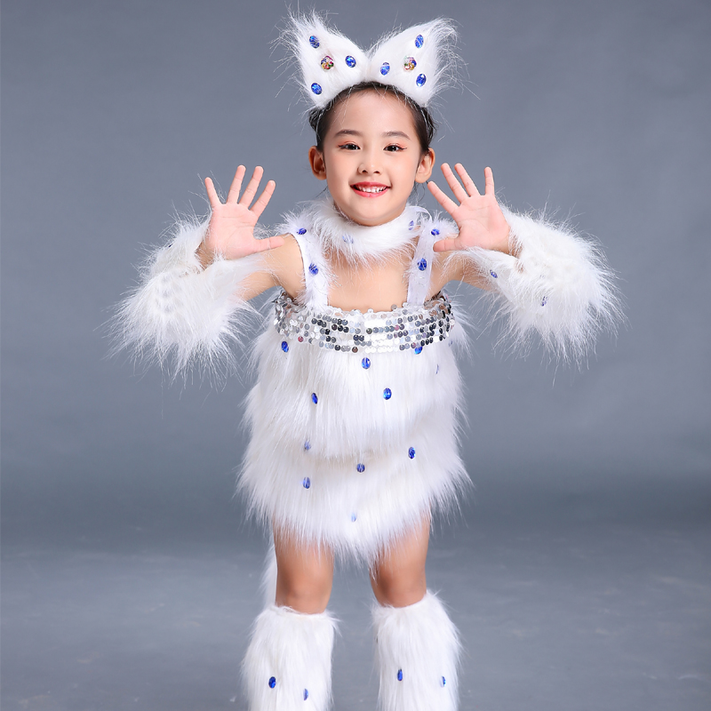Learn Cats Cats Children Animal Clothes Persian Cats Performance Clothes Toddlers Kittens Cute Cartoons Modern Stage Costumes.