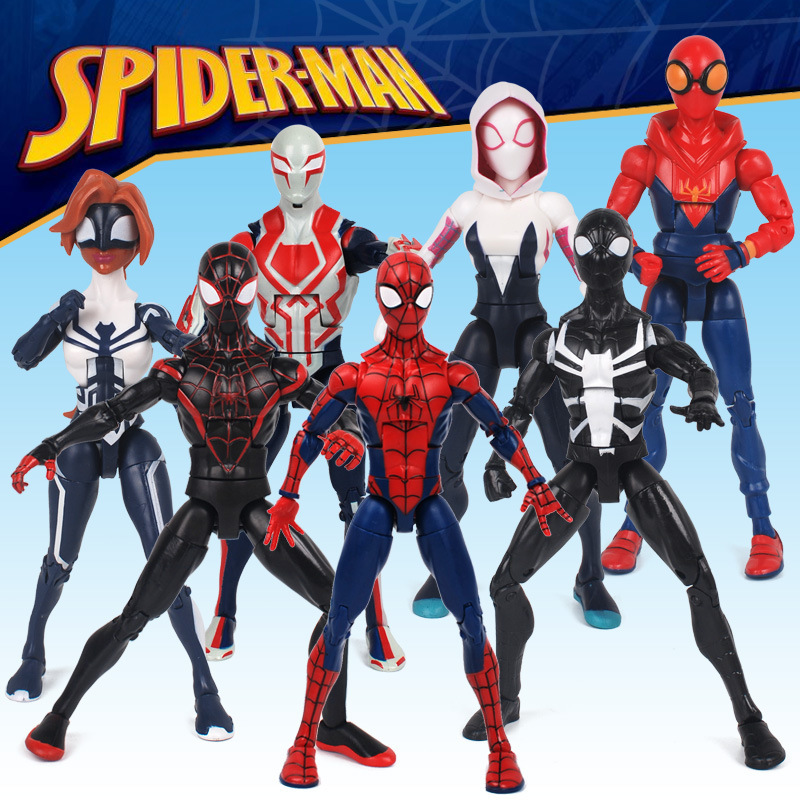 Marvel Toy 2019 Spiderman Into The Spider Verse Cartoon Action Figure Peter Parker Man Miles Morales Gwen Legends Doll Toys