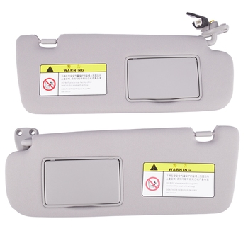 Windshield Sunvisor Assy Sunshade with Cosmetic Mirror Front for HYUNDAI SONATA NF 852010R300X6 852020R300X6