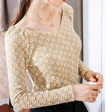 Кружевная нижняя рубашка Женская осенне зимняя новая стильная