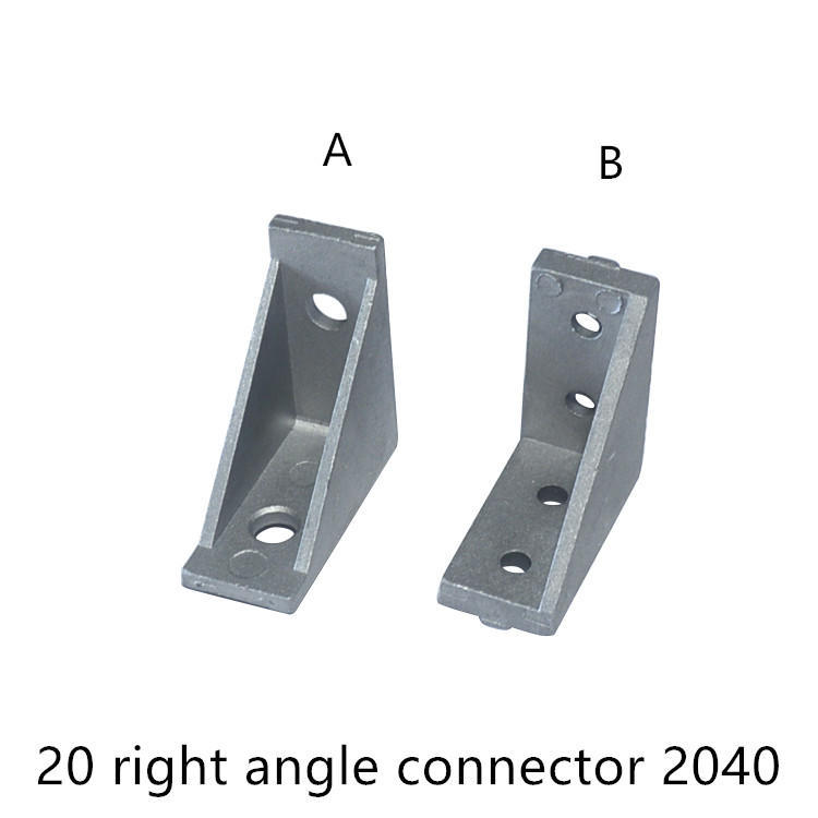 Corner Right Angle Connection 90 Degrees 2040 Bracket For EU 20 Aluminum Profile Slot 5mm 6mm