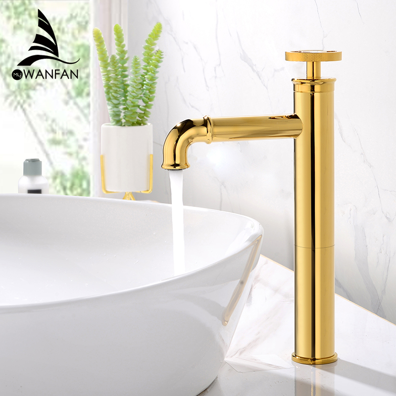 Basin Faucets Retro Industrial Style Matte Black Brass Crane Bathroom Faucet Hot And Cold Water Mixer Tap Torneira WF-F20A03K