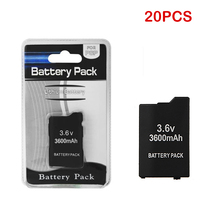 20Pcs/Lot For Sony PSP2000 PSP3000 Wireless Gamepad PSP 2000 PSP 3000 3.6V 3600mAh Rechargeable Batteries Wholesale