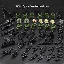 6 Pcs Nieuwe Militaire Mini Baksteen Cijfers Russische Alpha Force Swat Leger Camouflage Soldaat Bouwstenen Baksteen Figuur Speelgoed Gift