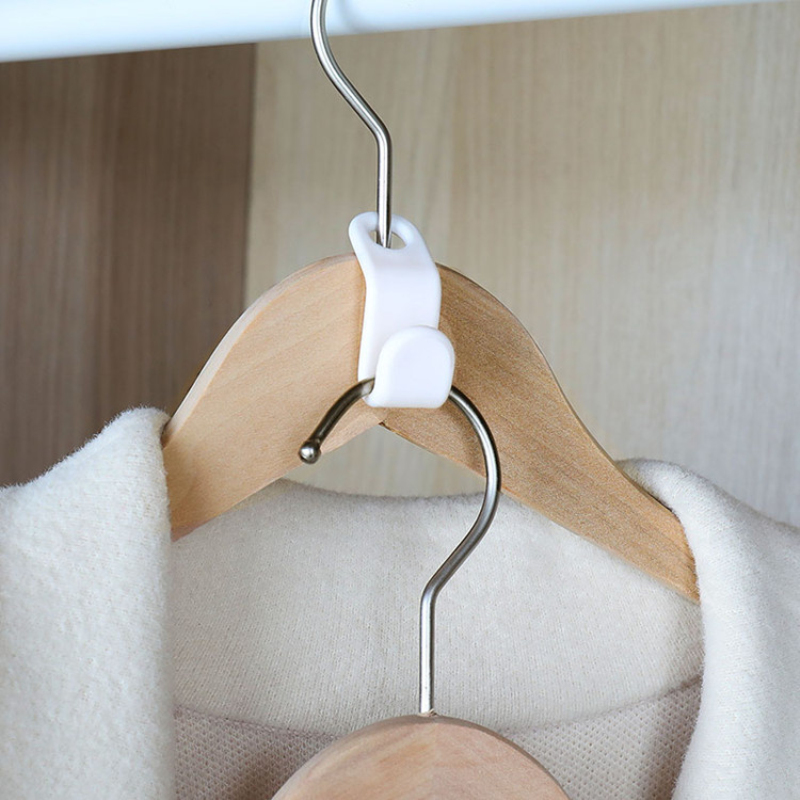 6Pcs Connection Hanger Hooks Space Saver Cloakroom Hanger Hook Multifunction Plastic Coat Hook Hanger Closet Drying Racks