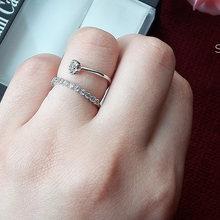 Новое красивое кольцо с камнями белого цвета женское элегантное