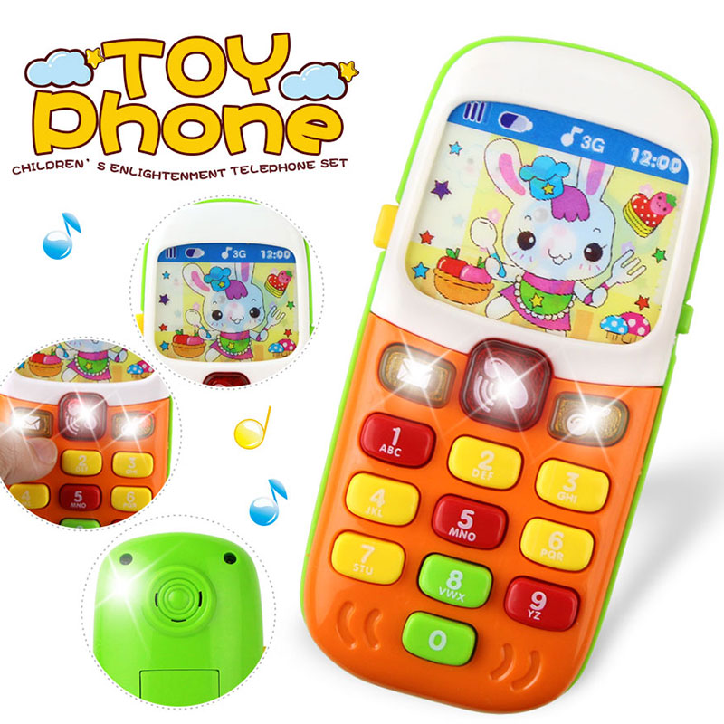 Electronic Toys Phone Baby Mobile Phone Cellphone Telephone With Sound Flash Light Music Toys Early Education Toys For Kids Gift