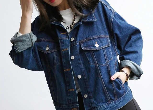 Chaqueta básica de mezclilla para mujer, chaqueta vaquera de primavera y otoño, para mujer, chaqueta de mezclilla suelta, estilo Casual, prendas de vestir exteriores YQ376