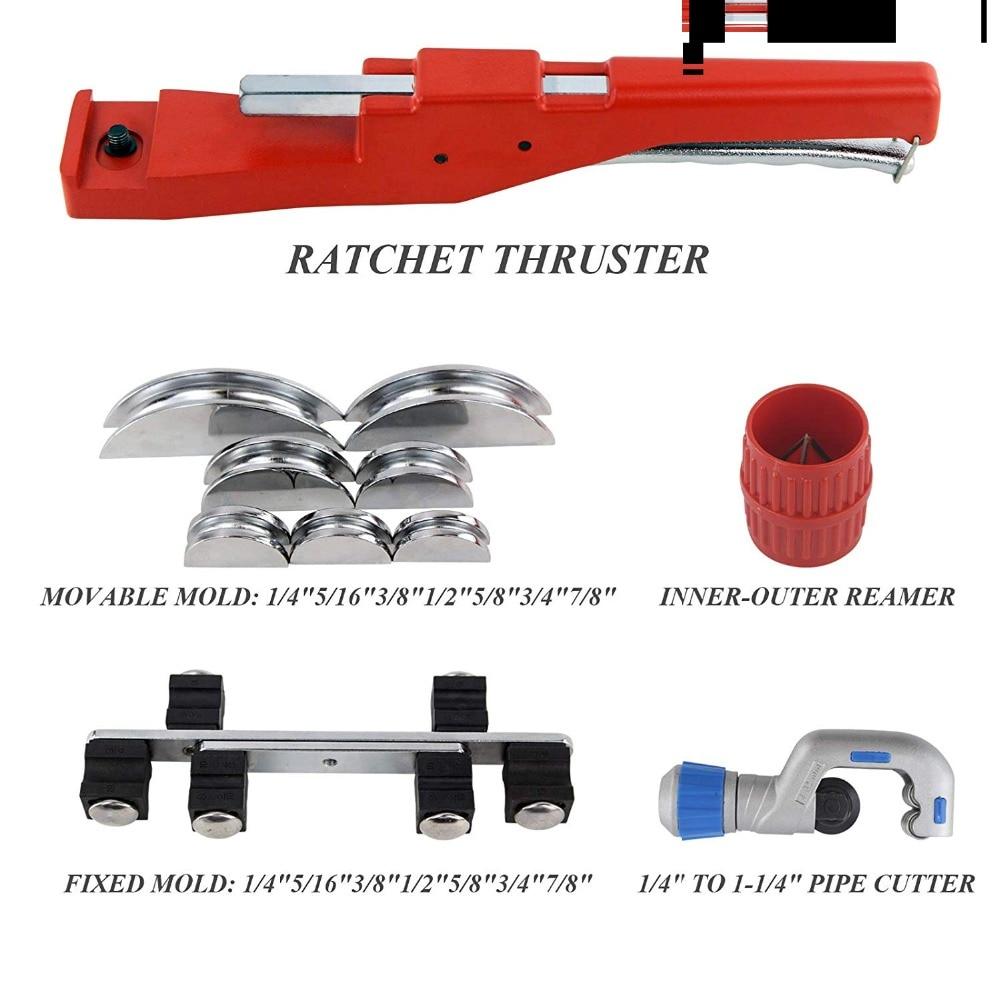 Manual Pipe Tube Bender Set 1/4″ 5/16″ 3/8″ 1/2″ 5/8″ 3/4″ 7/8 ...