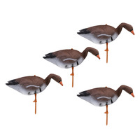 4pcs 3D Floating Goose Decoy for Hunting Fishing Garden Decors Pest Scarer Scarecrow Outdoor Bird Flyer Lawn Pond Ornaments