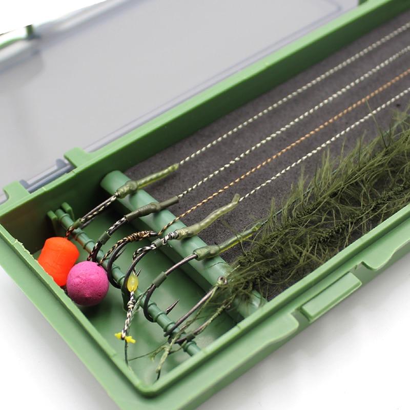 Carp Fishing Rig Box Hair Rig Wallet  Carp Fishing Tackle Box Stiff Hair Rig Board With Pins Storage Box For Fishing Line