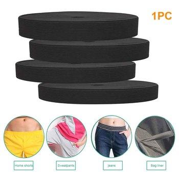 40m cienkie spodnie Stretch odporne na zużycie szycie tkania gumką tekstylne darmowe cięcia dodatki do odzieży domu DIY Craft taśmy tanie i dobre opinie HOUSEEN CN (pochodzenie) Polyester And Latex About 40m