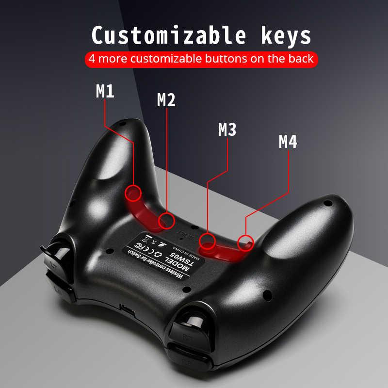 データカエルワイヤレス bluetooth コントローラ nintend スイッチプロ ns ゲームコンソールコントローラージョイスティック振動ゲームパッドアンドロイド/pc/PS3