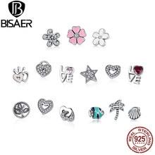 BISAER – boîte en argent Sterling 925, Original, Petite famille tropicale, Petite breloque pour collier, petits souvenirs