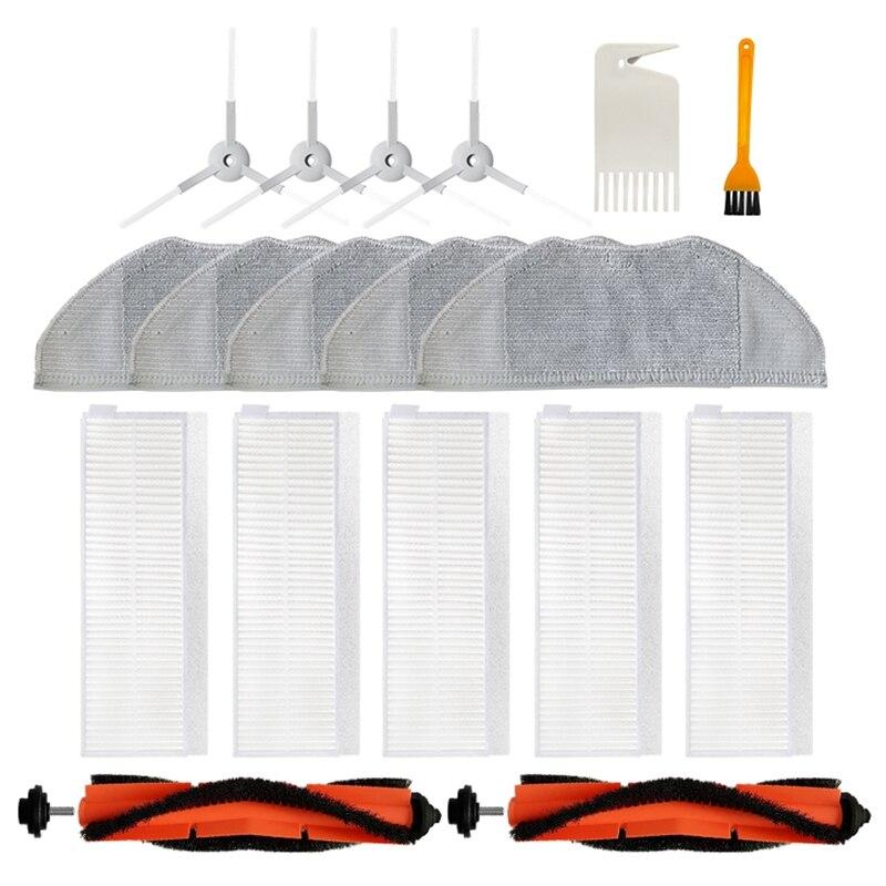 Quente!-principal escova de rolamento escova lateral filtro pano mop para xiaomi mi robô vácuo-mop essencial g1 cleaner peças de reposição pacote