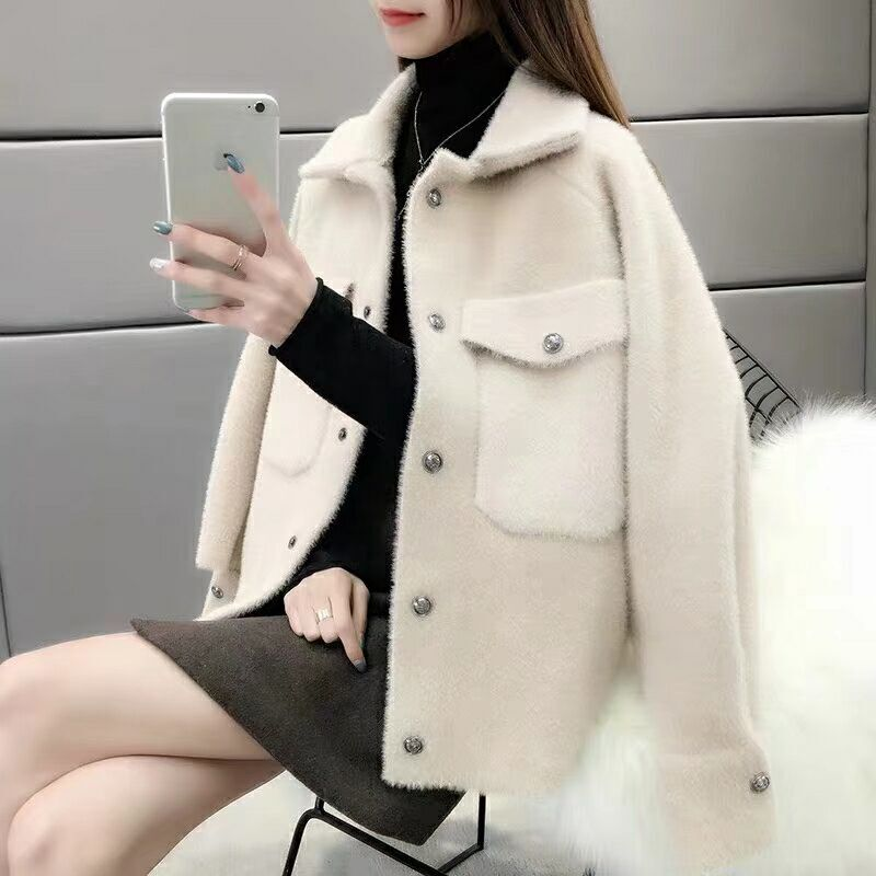 2019 Women Knit Sweater Cardigans Full Sleeve Single Breasted Pockets Thick And Warm Spring And Autumn Office Lady