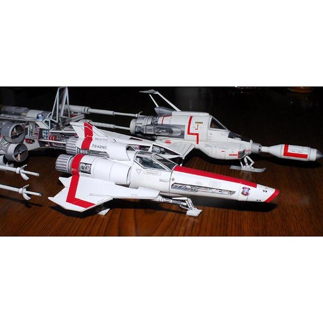 Battlestar Viper 2 Viper Mk2 3D Paper Model DIY Handmade Spacecraft Toy 5