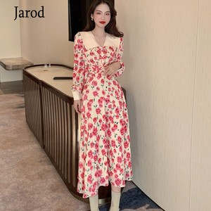 Женское платье в стиле бохо с цветочным принтом, весеннее платье с длинным рукавом, вечерние пляжные праздничные Клубные платья 2020, новая же...