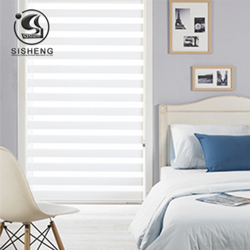 Nuevo estilo, barato y de alta calidad, persianas de cebra de color liso para decoración del hogar