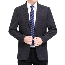 Male Blazer Suits Costume Informal Men Jacket Business Fashion Casual Single-Breasted