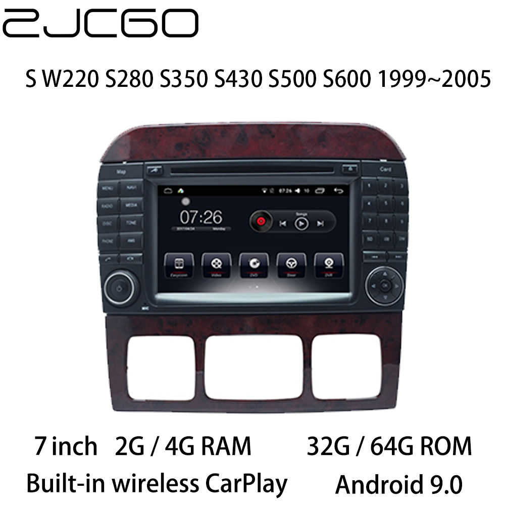 Car Multimedia Player Stereo <font><b>GPS</b></font> DVD Radio Navigation Android Screen <font><b>for</b></font> <font><b>Mercedes</b></font> Benz S W220 S280 S350 S430 <font><b>S500</b></font> 1999~2005 image