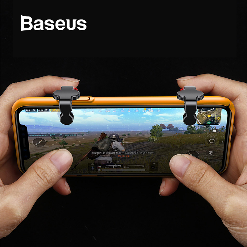 Baseus 1Pair L1 R1 Gaming Trigger Mobile Phone Games Shooter Controller Fire Button Handle For PUBG/Rules of Survival/Knives Out repsol brake lever