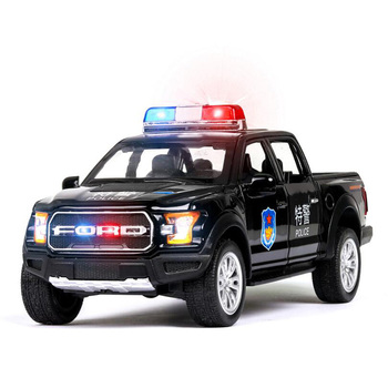 1 32 Ford F150 zabawka ze stopu metalowy samochód Pickup dźwięk i światło z powrotem Model pojazdu policyjnego prezenty dla dzieci zabawki dla chłopca tanie i dobre opinie HEIPAPO 6 lat Inne Diecast Certyfikat 010288