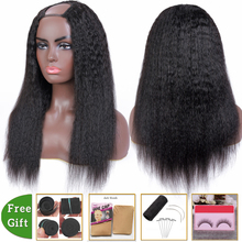 Levita Brazilian hair wigs kinky straight wig human hair