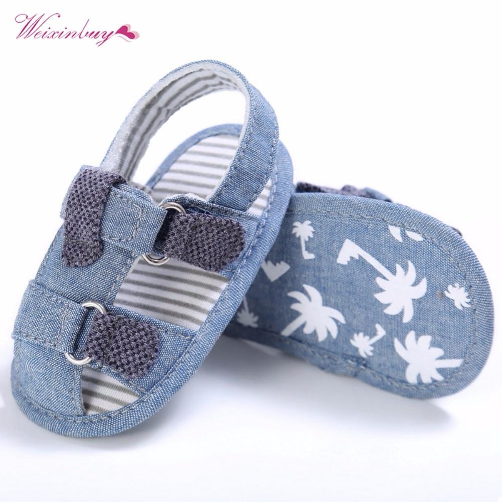 Summer Baby Kids Shoes Denim Closed Toe Orthopedic Sport Toddler Boys Girls Sandals