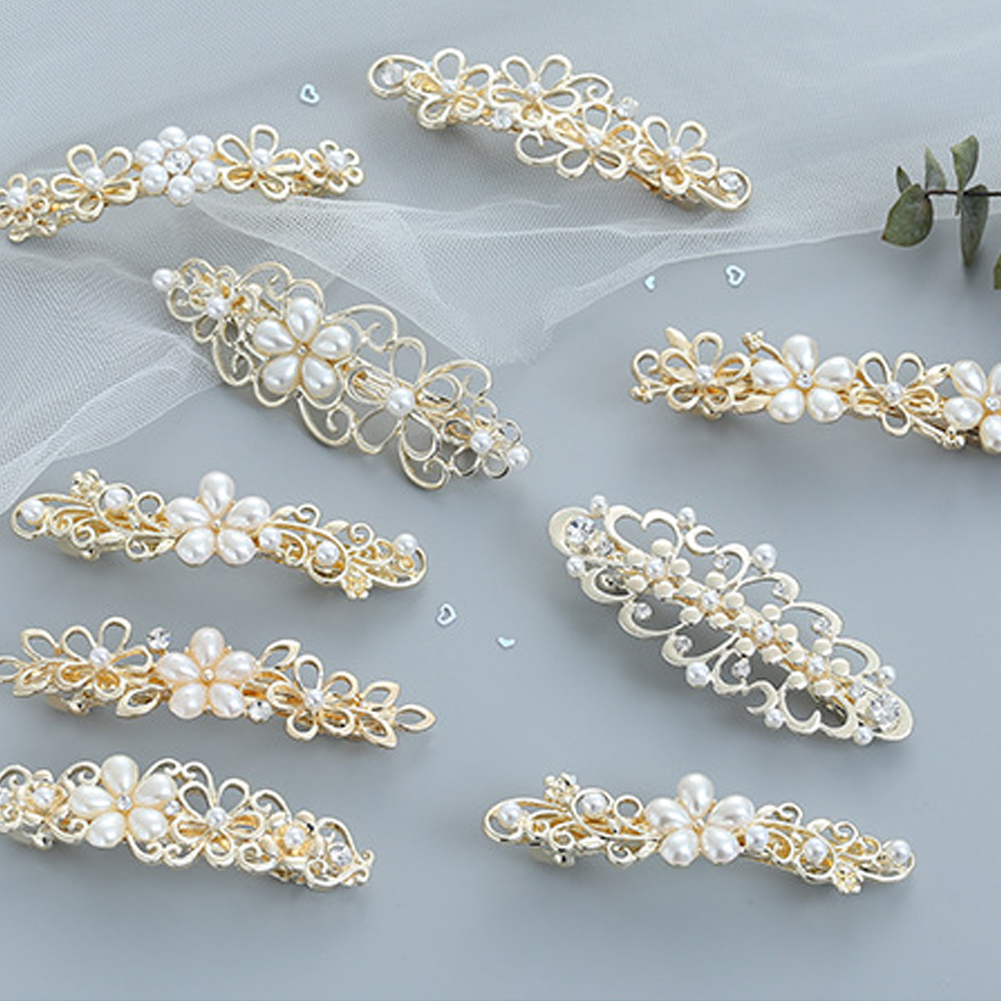 1Pcs Pearl Flower Metal Hair Clip Hairband Comb Bobby Pin Barrette Hairpin Headdress Accessories Beauty Styling Tools