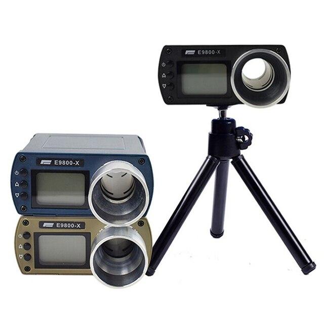 Medidor de velocidade precisão, instrumento de medição, tela lcd portátil, cronoscópio E9800 X, testador de velocidade