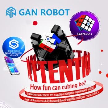 цена на Gan Robot and Gan356i 3x3x3 Magic Speed Cube Station App GAN 356 i Online Competition GAN356 i Puzzle Cubo Magico Gans Cubes Toy