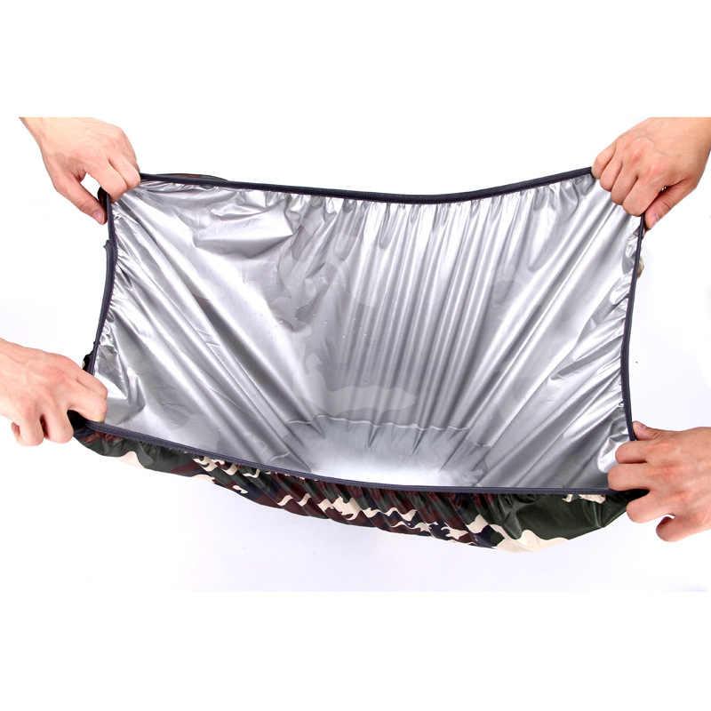 1 szt. Przenośna wodoodporna osłona przeciwdeszczowa przeciwkurzowa plecak podróżny plecak kempingowy torba przeciwdeszczowa pokrowiec na plecak 45L 60L sportowy sprzęt przeciwdeszczowy