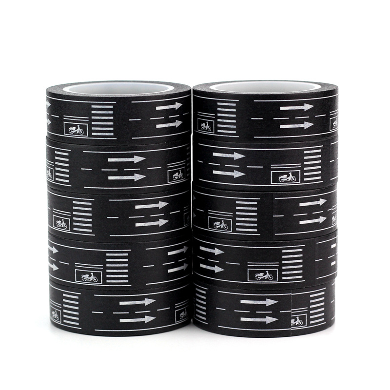 10pcs/lot Decorative Highway Road Washi Tapes Paper DIY Scrapbooking Planner Adhesive Masking Tapes Kawaii Stationery