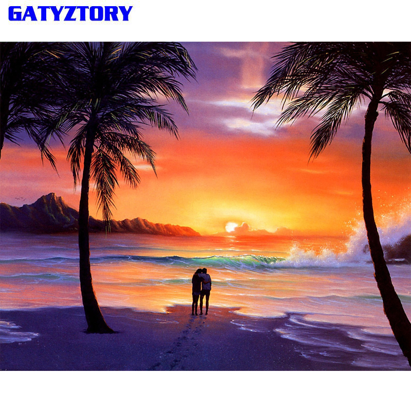 Top 9 Most Popular Frame Canvas Painting Of Beach Sunset Ideas And Get Free Shipping A682