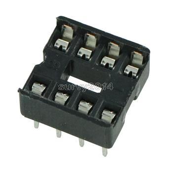 10 قطعة جديد 8pin DIP IC محول القابس لحام نوع المقبس الملعب المزدوج مسح الاتصال