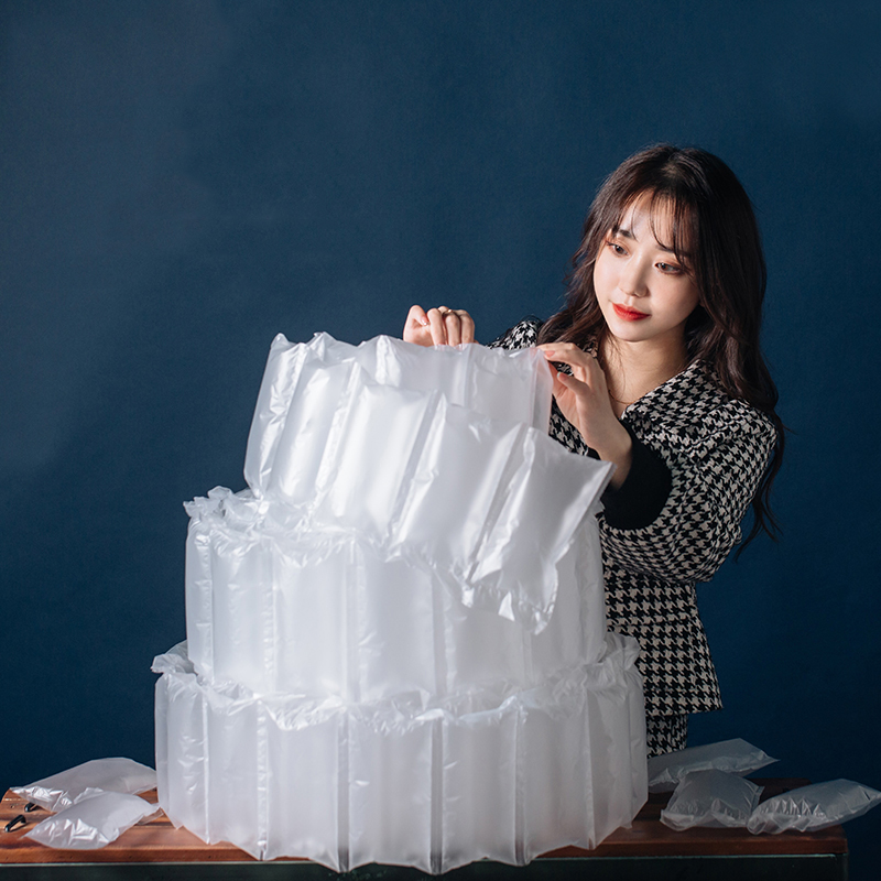 500M Buffer Air Cushion Air Pillow Film Packing FiIm Filling Film Packaging Bag Filling BNubble Roll Filled Material Wholesale