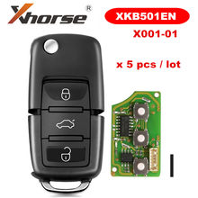 Xhorse XKB501EN para V-W B5 Tipo 3 Botões Com Fio pçs/lote 5 X001-01 para VVDI Ferramenta Chave Chave de Controle Remoto Universal