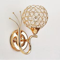 Kryształowa ściana lampa nabłyszczania sypialnia kinkiet chrome kinkiety do domu aplikacje oprawy Murales oświetlenie łazienkowe